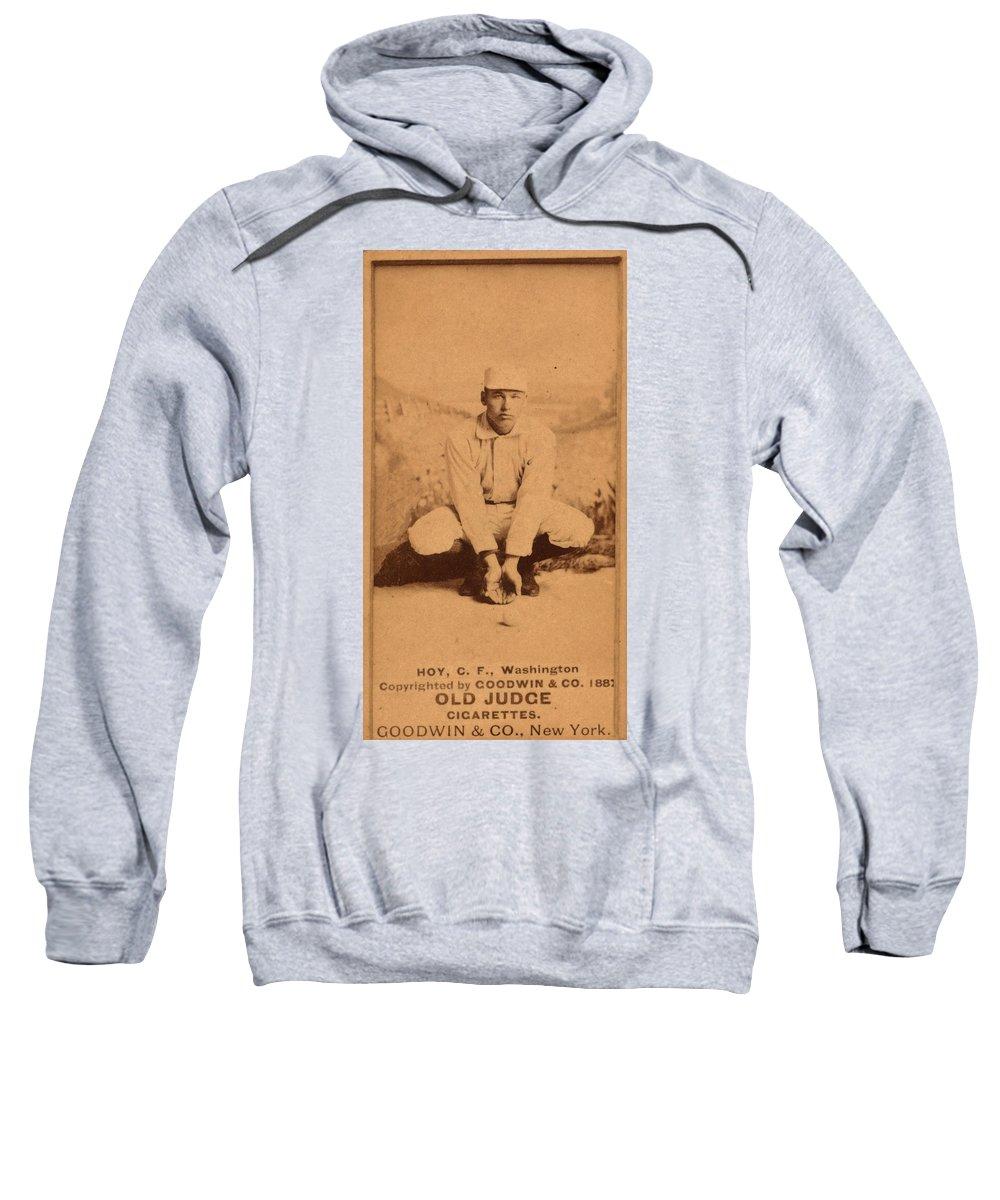 1888 Sweatshirt featuring the photograph William Ellsworth Hoy by Granger