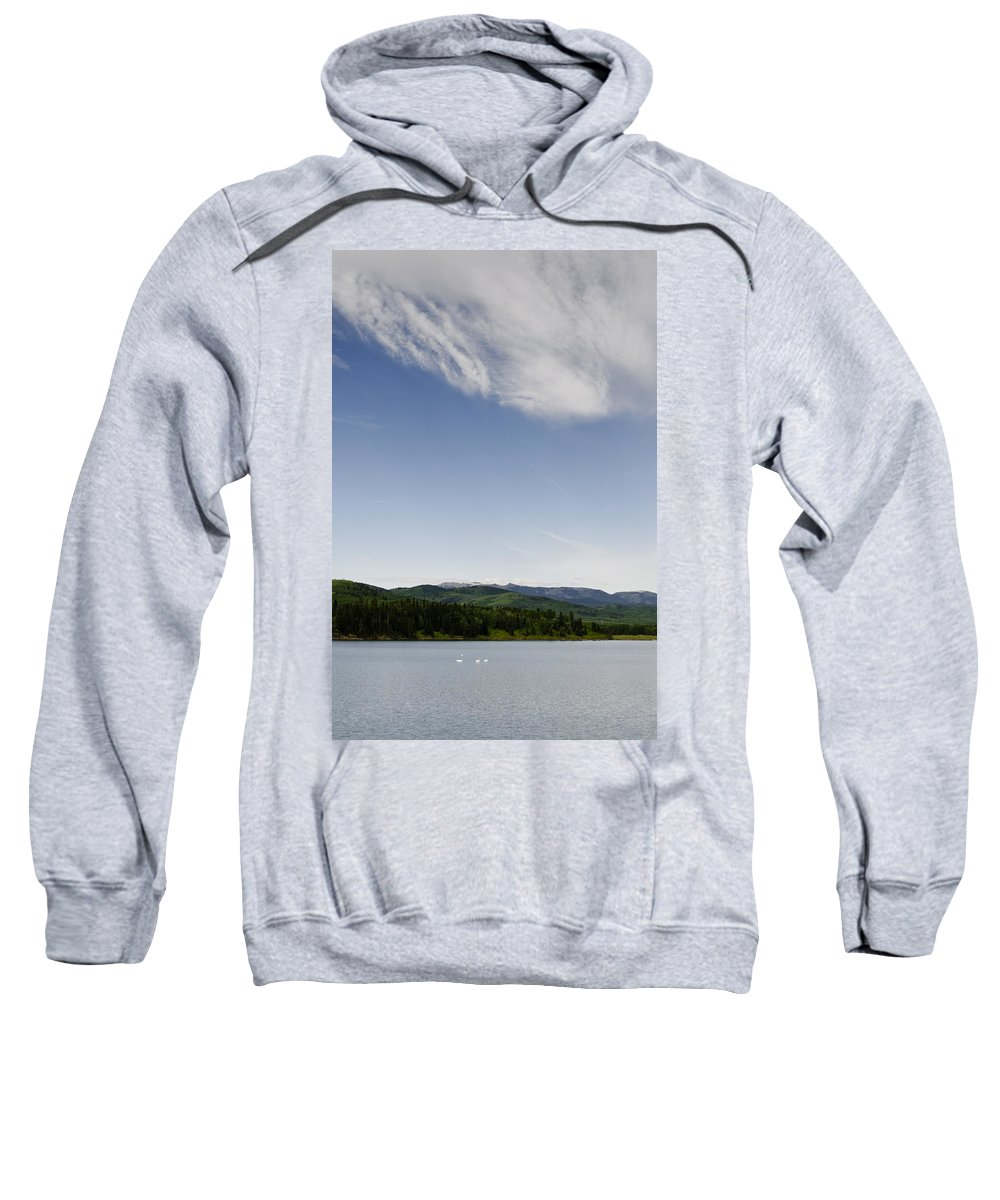 Chain Lakes Provincial Park Sweatshirt featuring the photograph Big Sky View by Roderick Bley