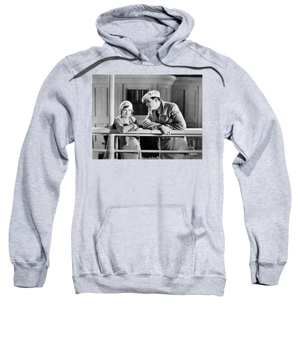 1920s Sweatshirt featuring the photograph Silent Still: Man & Woman by Granger