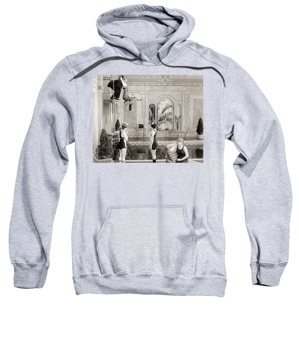 -bathing: Women's Suit & Pool- Sweatshirt featuring the photograph Silent Still: Bathing by Granger