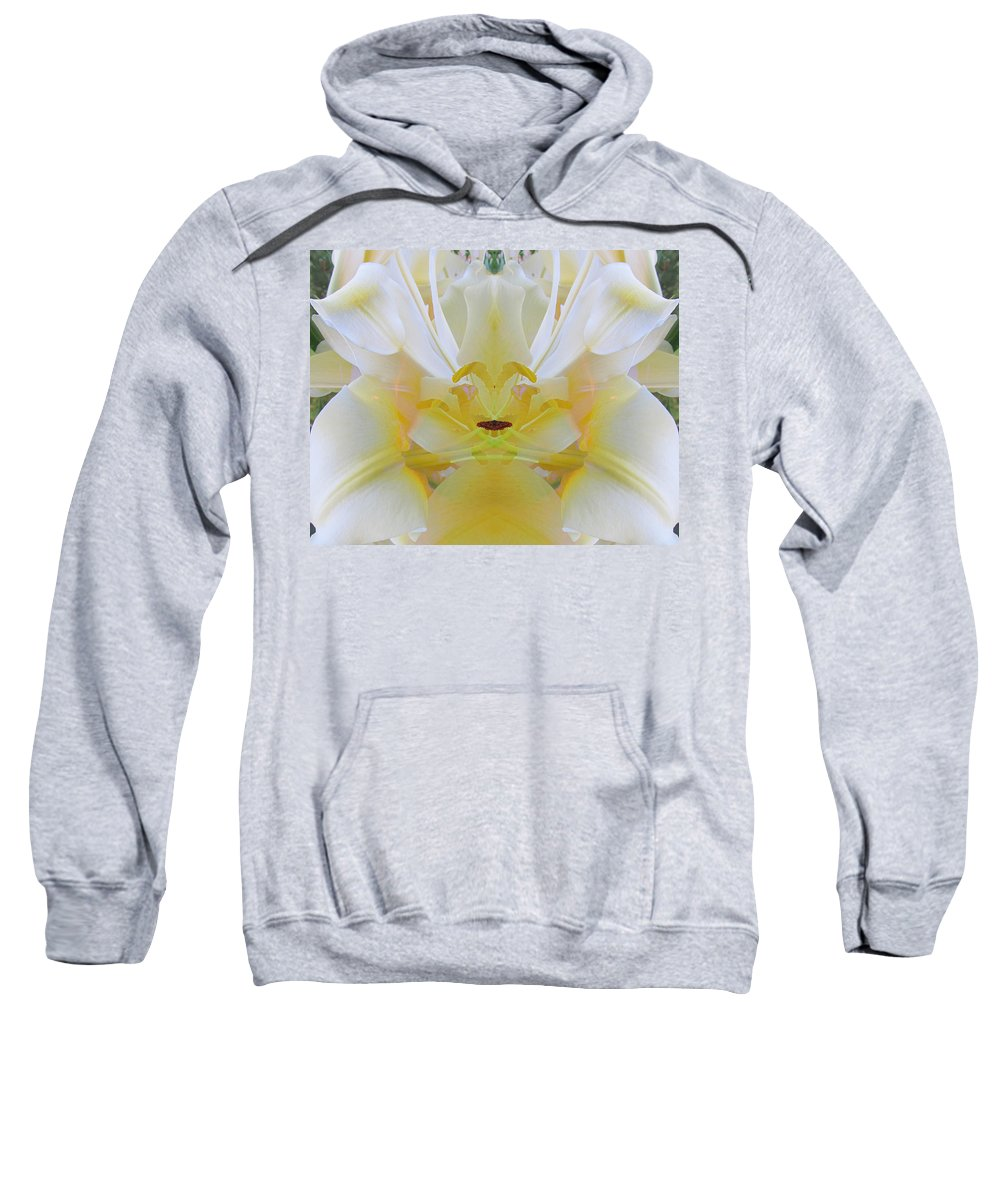 Color Blend Sweatshirt featuring the digital art Lily Fantasy by Michele Caporaso