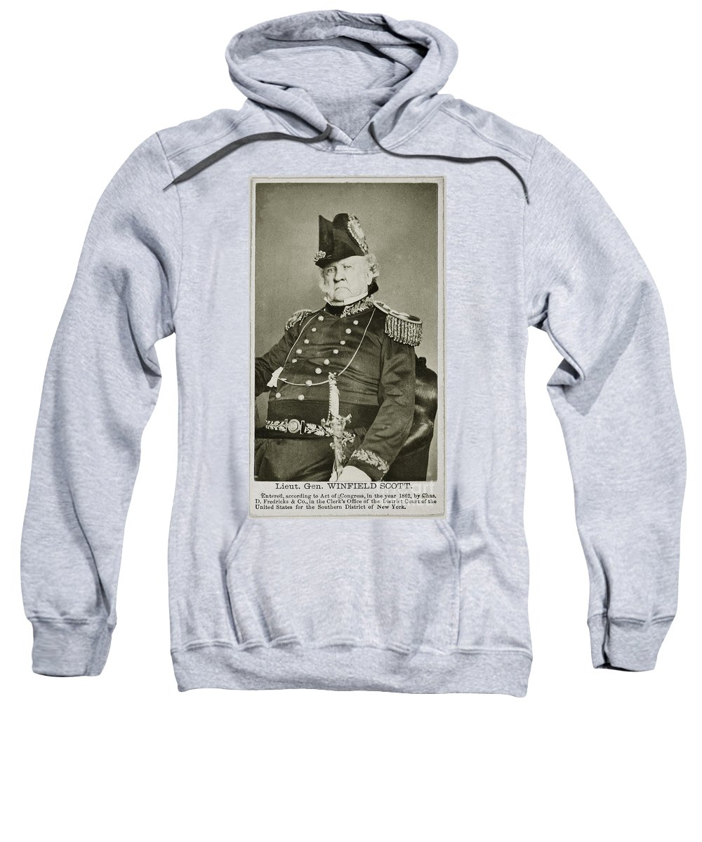1862 Sweatshirt featuring the photograph Winfield Scott (1786-1866) by Granger