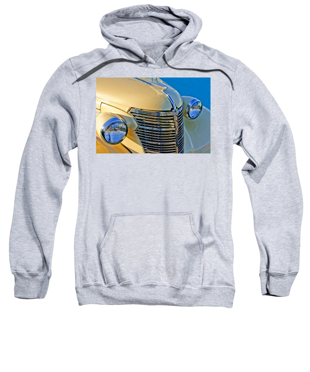 1933 Chevrolet Sweatshirt featuring the photograph 1933 Chevrolet Grille And Headlights by Jill Reger