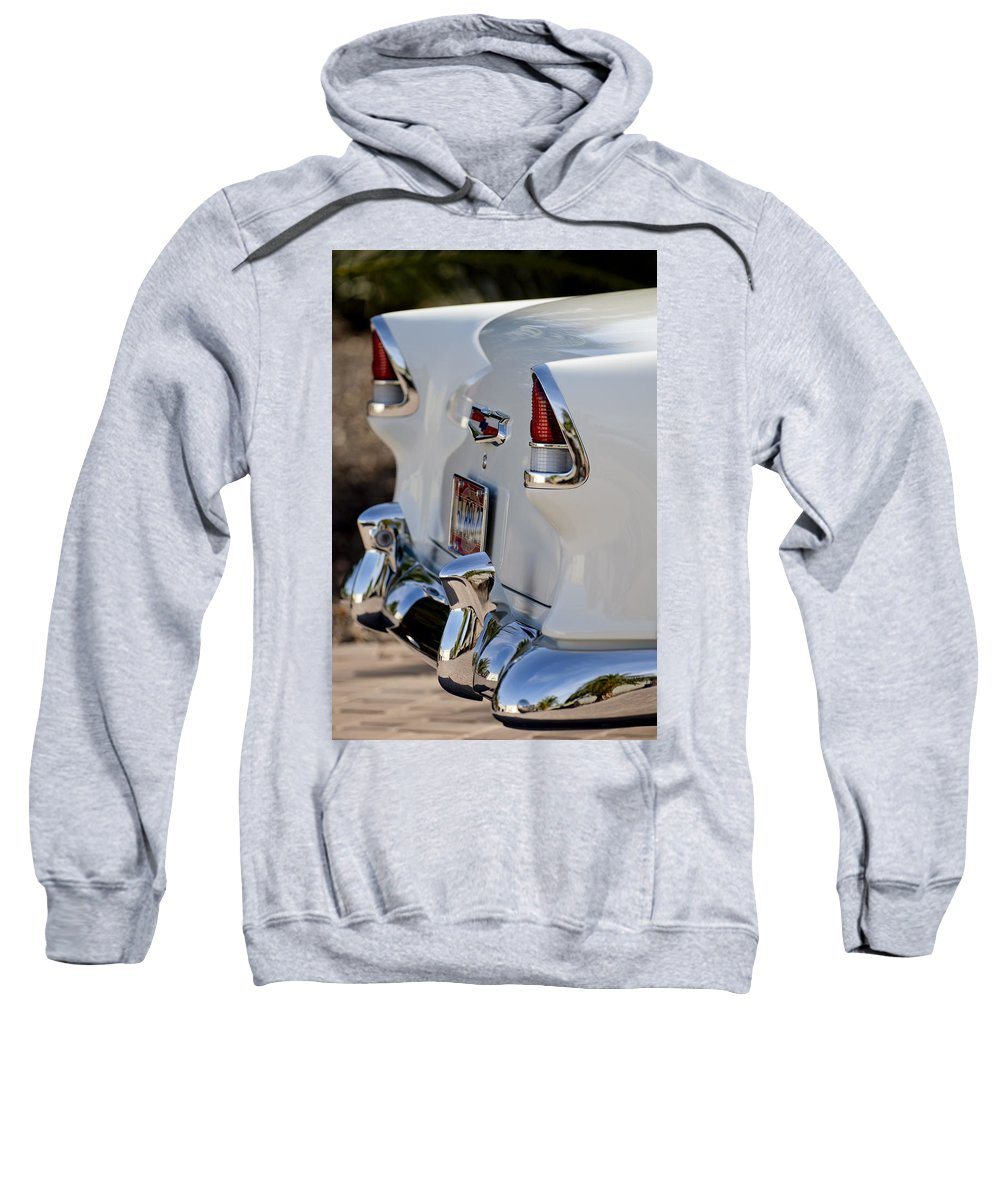 1955 Chevrolet 210 Sweatshirt featuring the photograph 1955 Chevrolet 210 Taillights by Jill Reger