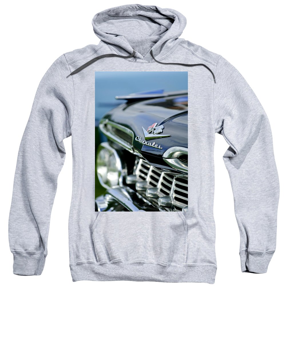 1959 Chevrolet Sweatshirt featuring the photograph 1959 Chevrolet Grille Emblem by Jill Reger