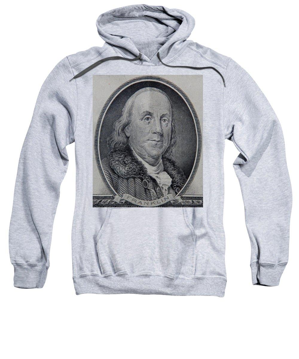 Ben Franklin Sweatshirt featuring the photograph Ben Franklin by Rob Hans
