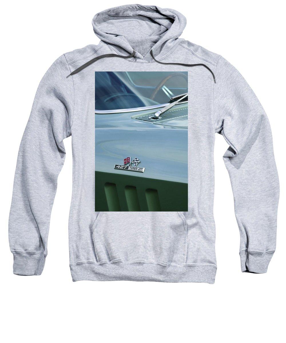 Chevrolet Corvette Sweatshirt featuring the photograph Chevrolet Corvette Emblem by Jill Reger
