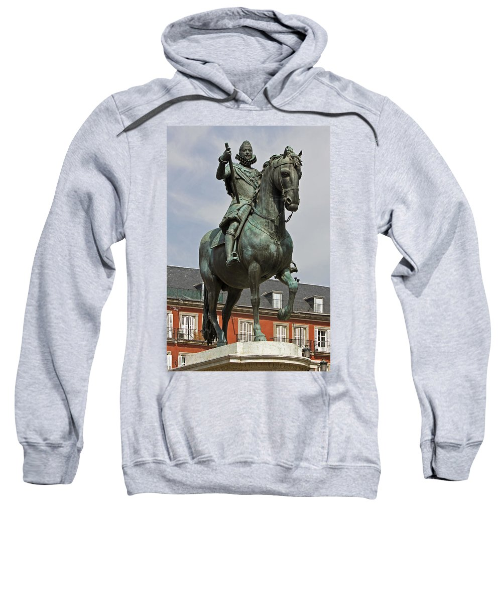 Madrid Sweatshirt featuring the photograph Plaza Mayor by David Pringle
