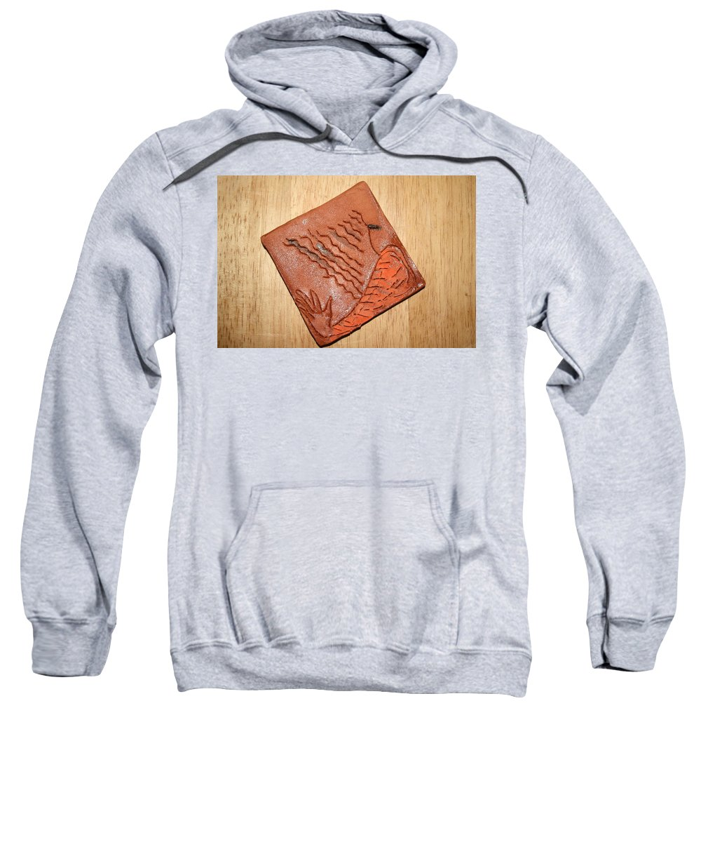 Jesus Sweatshirt featuring the ceramic art Sleepy - Tile by Gloria Ssali