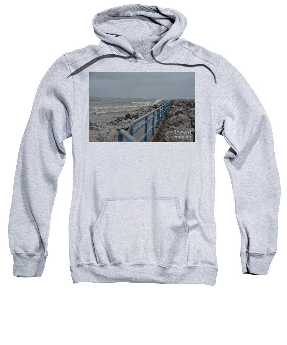 Hurricane Sweatshirt featuring the photograph Hurricane Sandy by Randy J Heath