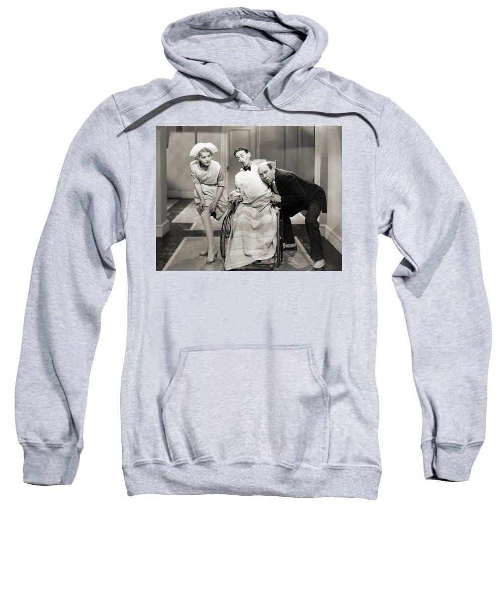 -doctors & Illness- Sweatshirt featuring the photograph Silent Film Still: Doctor by Granger