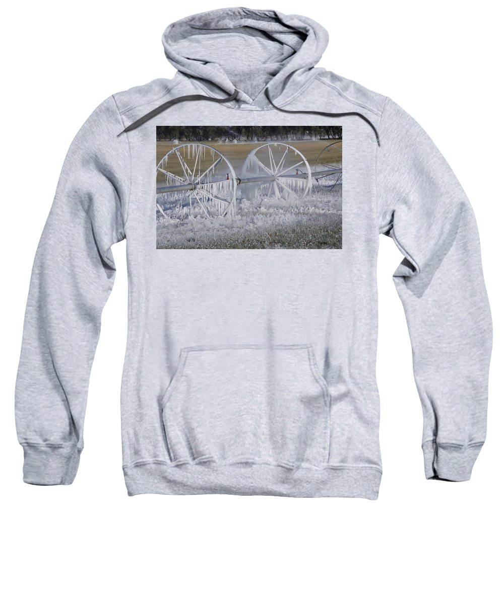 Agriculture Sweatshirt featuring the photograph 23 Degrees by Fran Riley