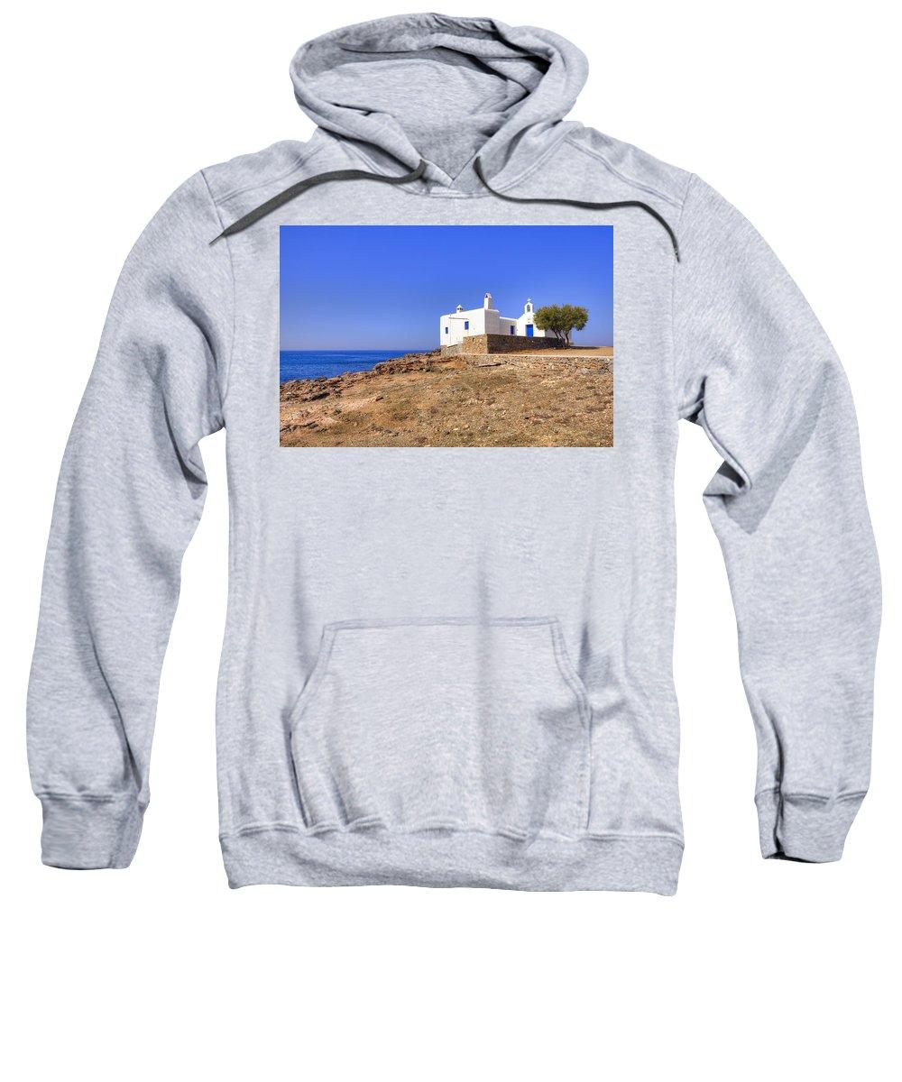 Mykonos Sweatshirt featuring the photograph Mykonos by Joana Kruse