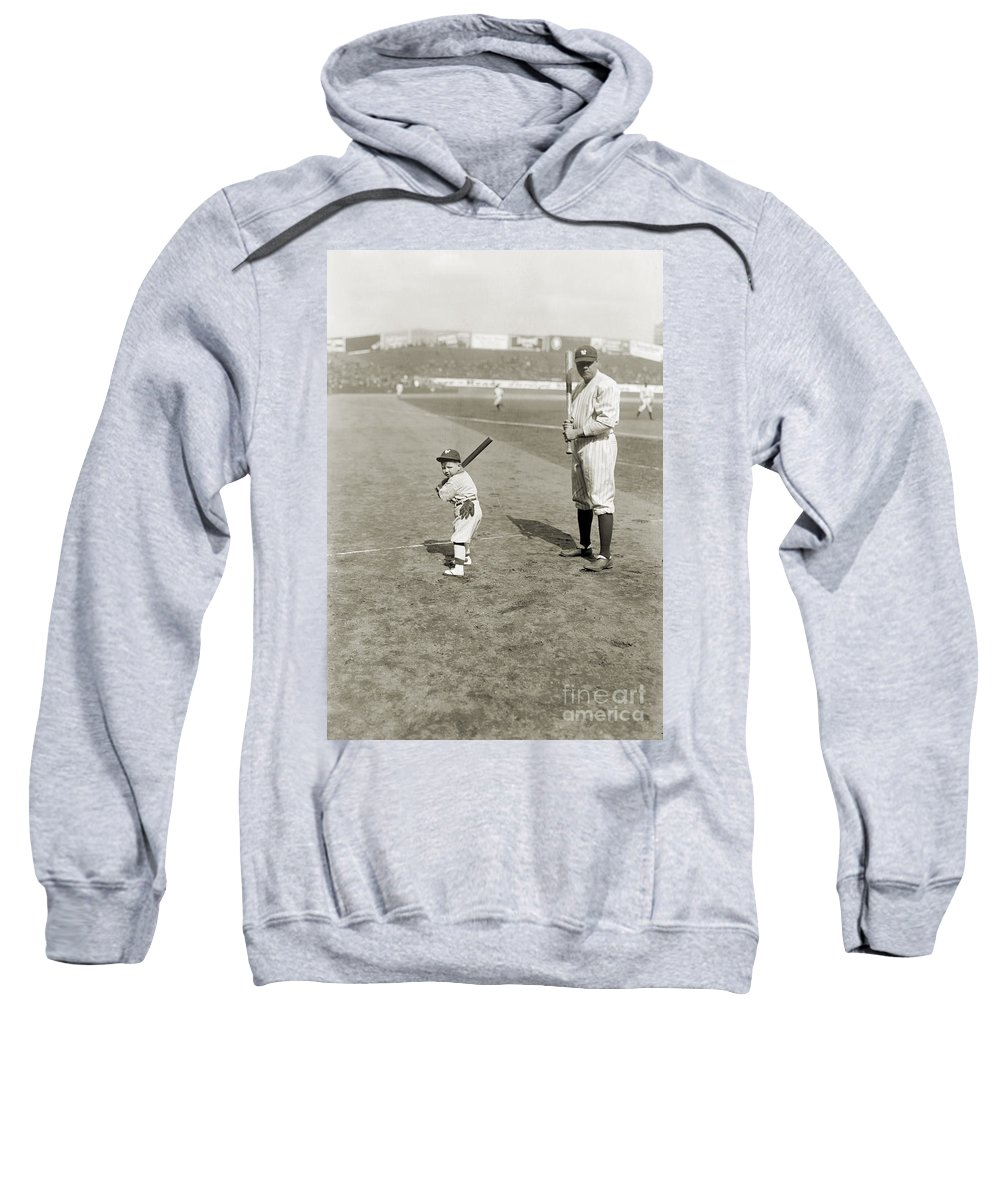 1922 Sweatshirt featuring the photograph George H. Ruth (1895-1948) by Granger