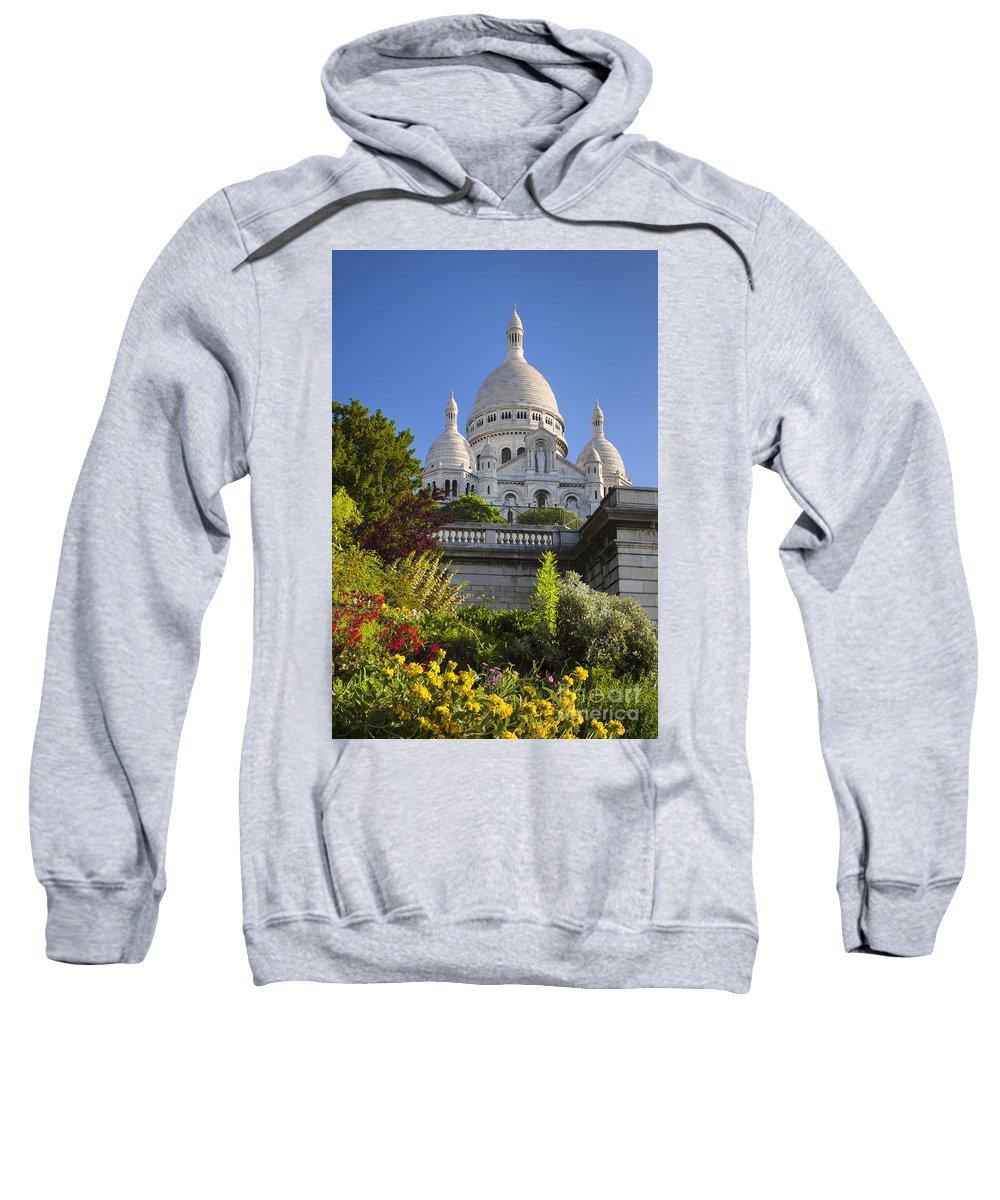 Architectural Sweatshirt featuring the photograph Basilique Du Sacre Coeur by Brian Jannsen