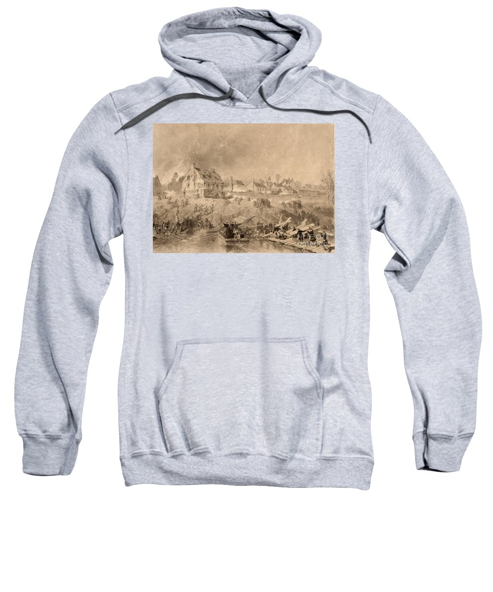 1862 Sweatshirt featuring the photograph Battle Of Fredericksburg by Granger