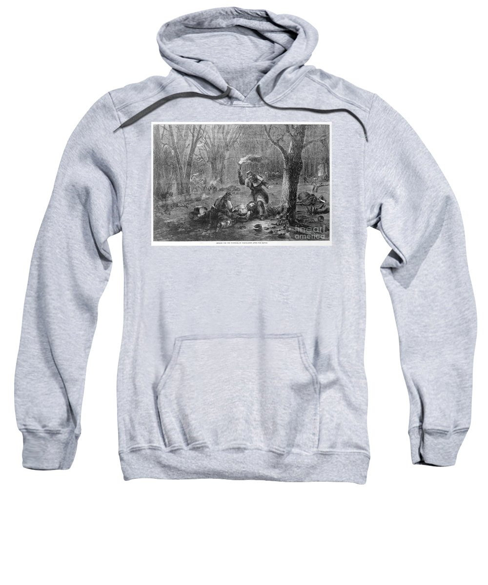 1862 Sweatshirt featuring the photograph Civil War: Wounded by Granger