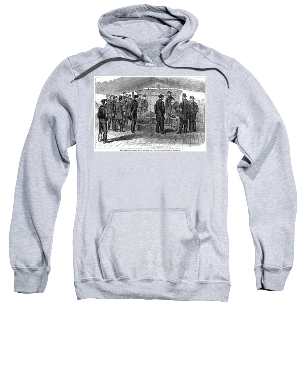 1865 Sweatshirt featuring the photograph John Wilkes Booth by Granger