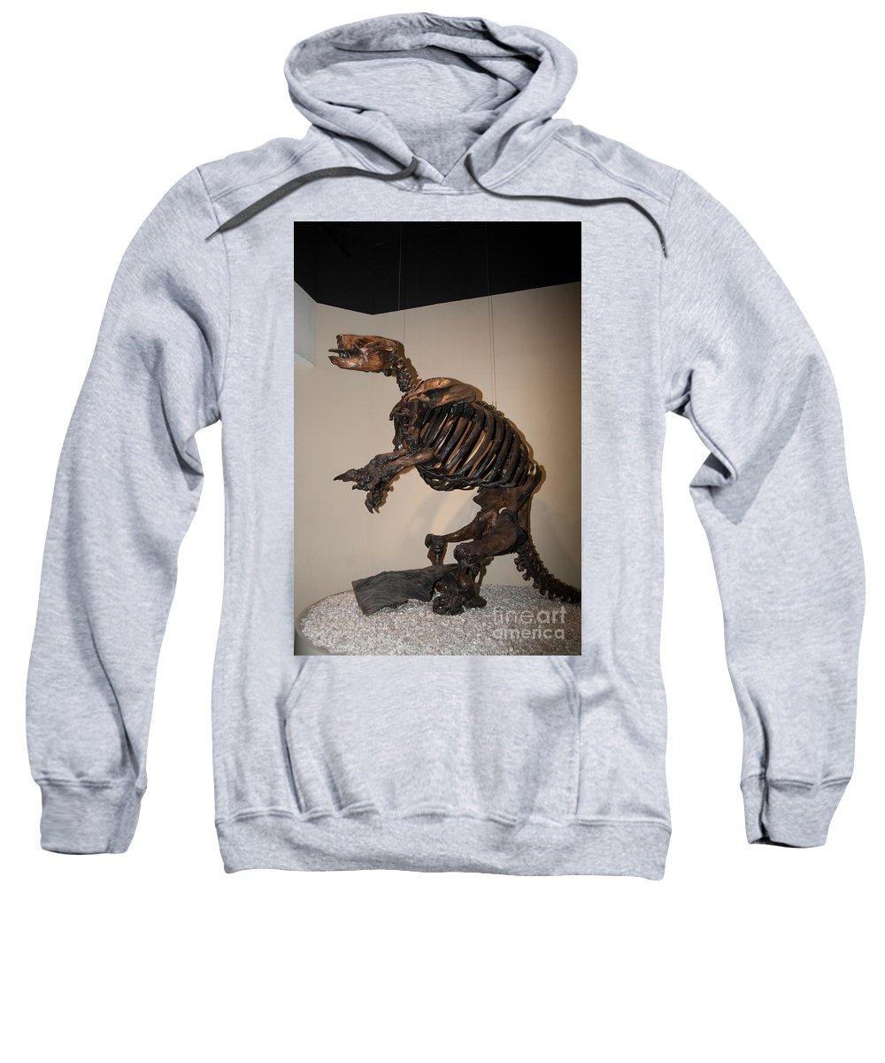 Animals Sweatshirt featuring the digital art La Brea Tar Pits by Carol Ailles