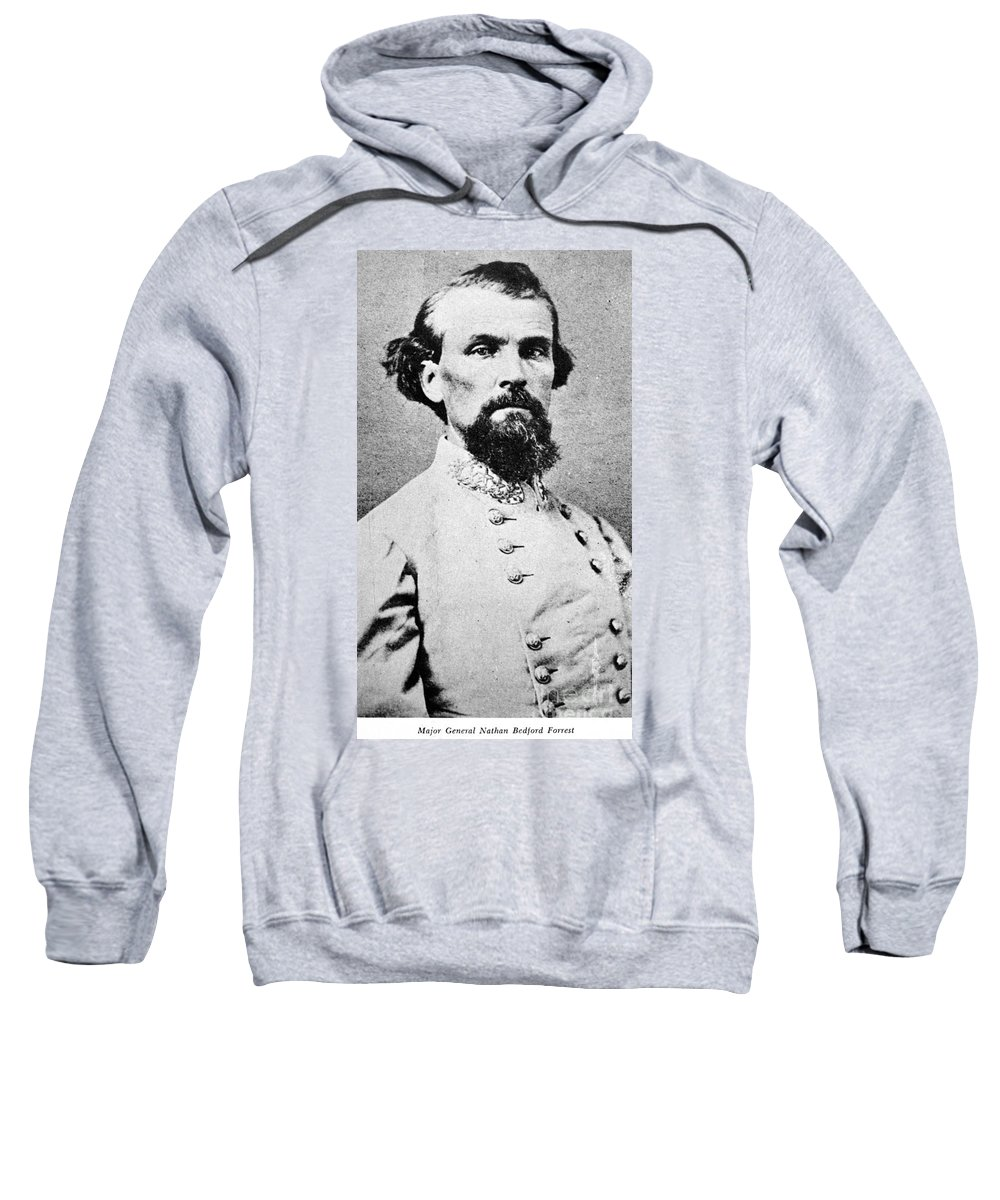 1864 Sweatshirt featuring the photograph Nathan Bedford Forrest by Granger