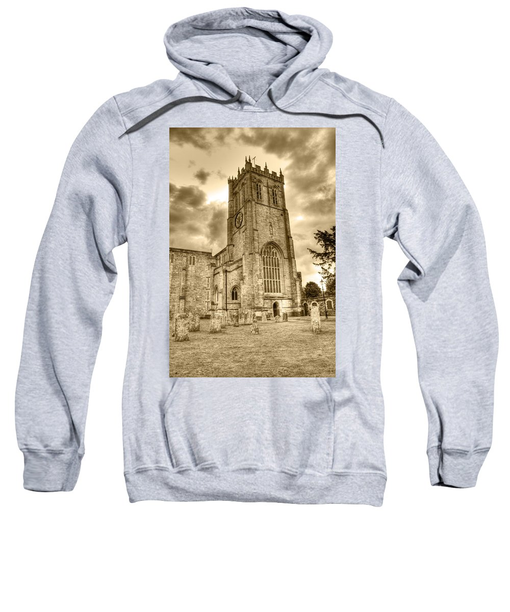 Christchurch Sweatshirt featuring the photograph The Priory by Chris Day