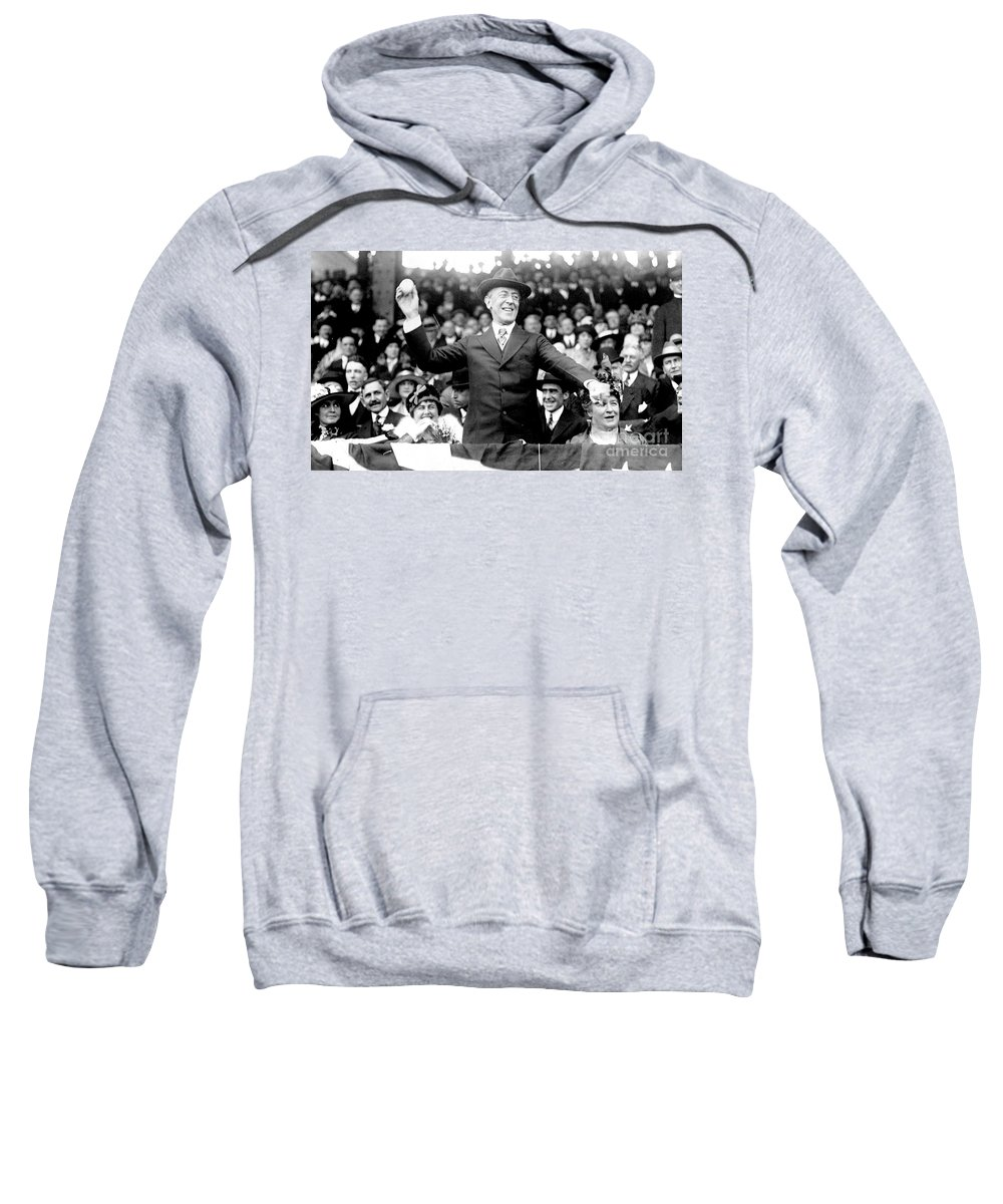 1916 Sweatshirt featuring the photograph Woodrow Wilson (1856-1924) by Granger