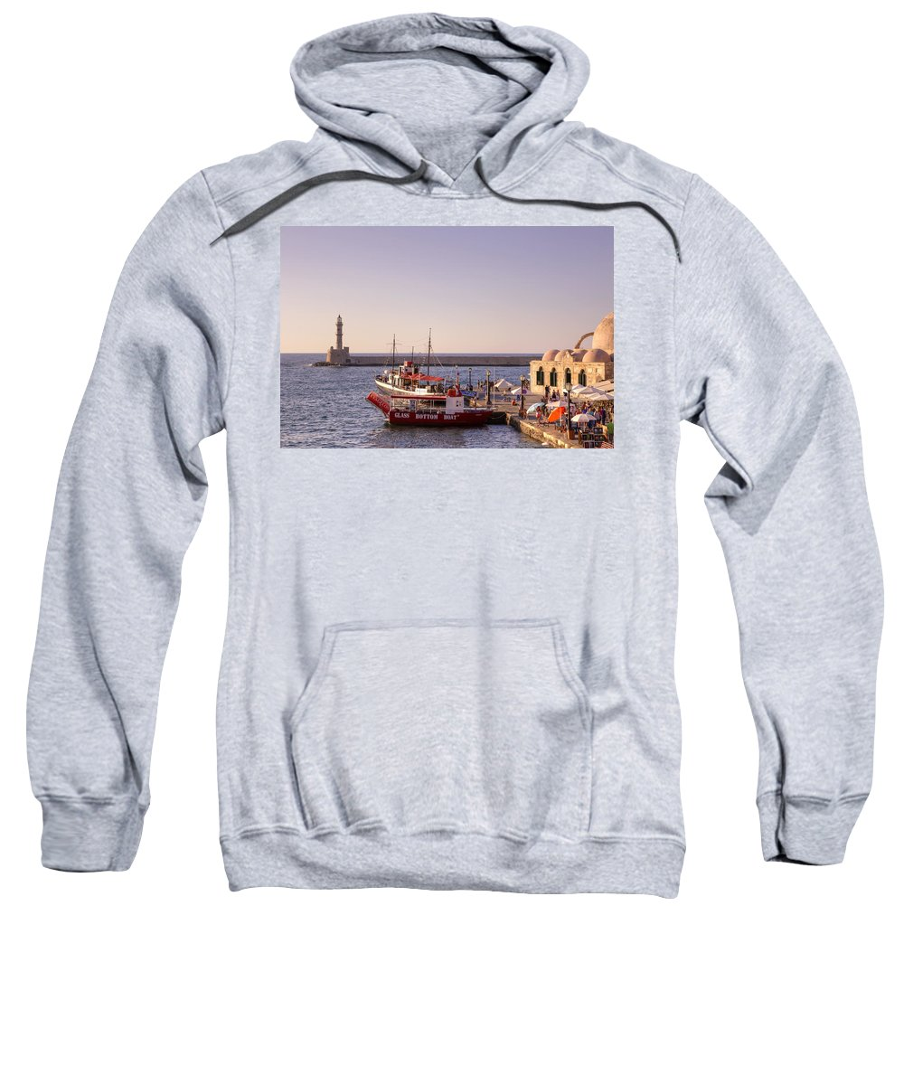 Lighthouse Sweatshirt featuring the photograph Chania - Crete by Joana Kruse