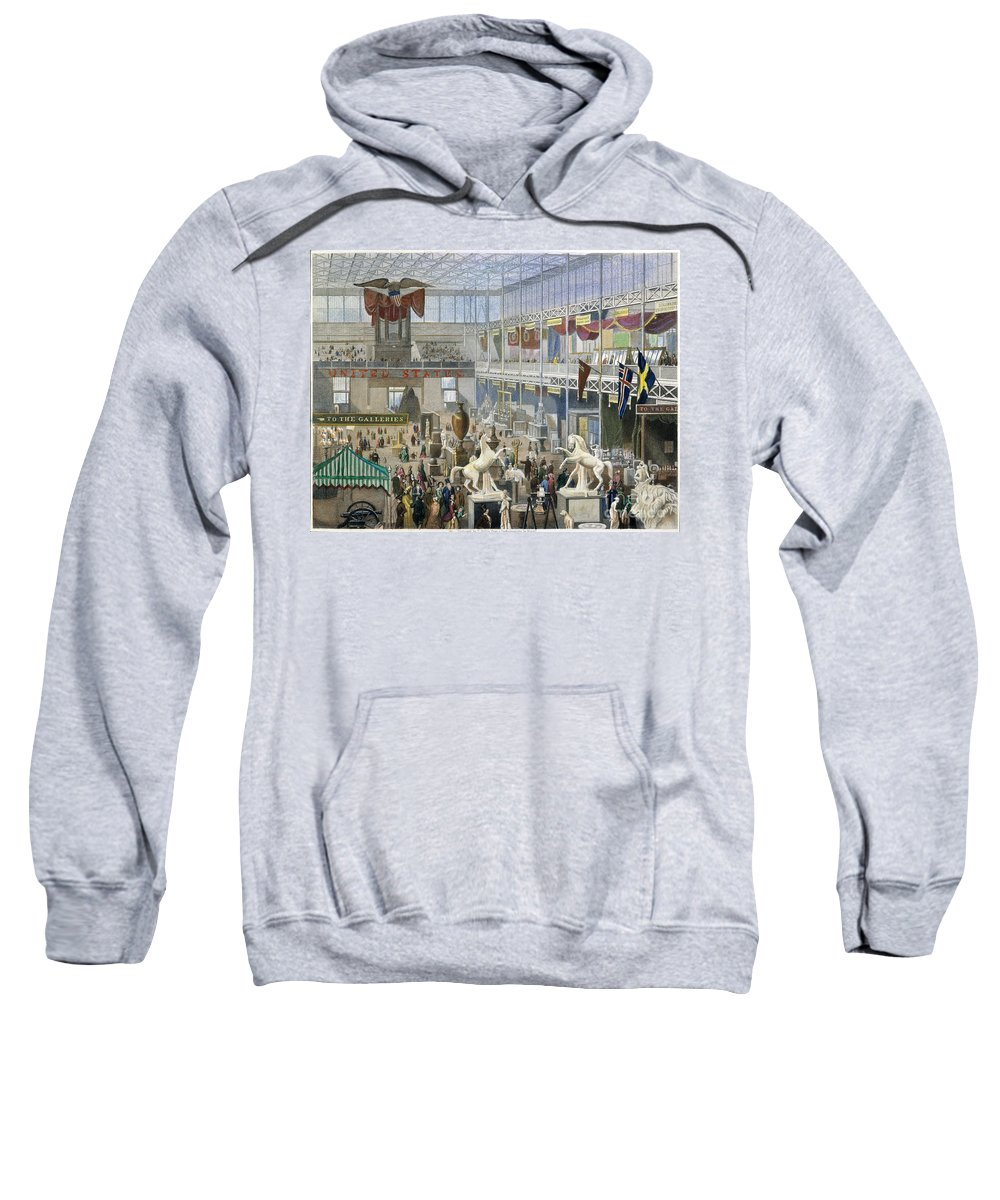 1851 Sweatshirt featuring the photograph Crystal Palace, 1851 by Granger