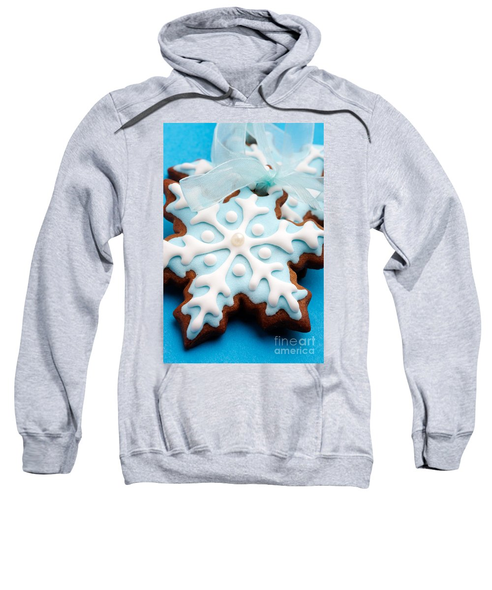 Background Sweatshirt featuring the photograph Gingerbread Cookies by Kati Finell