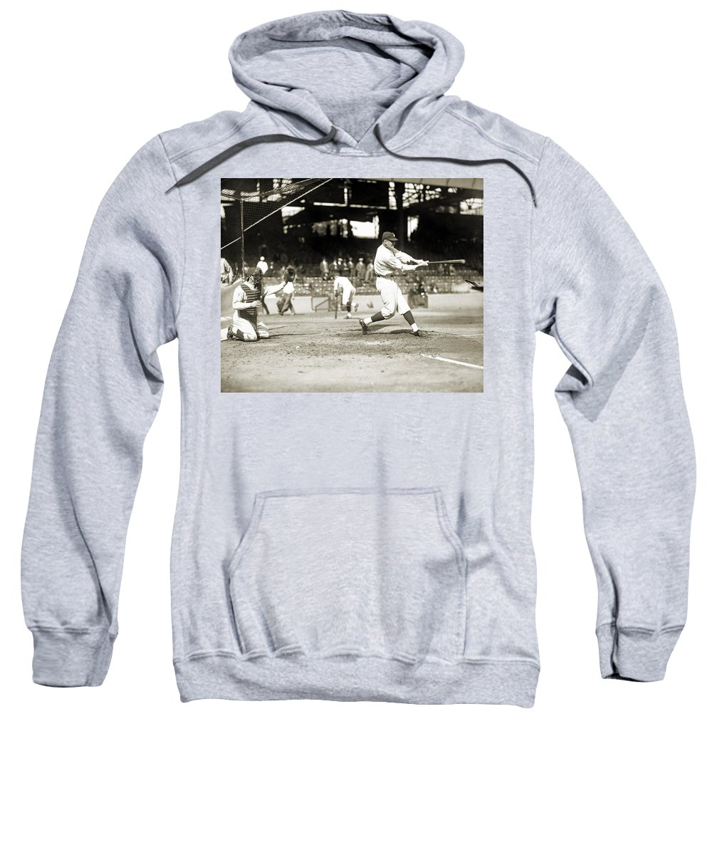 1922 Sweatshirt featuring the photograph Walter Perry Johnson by Granger