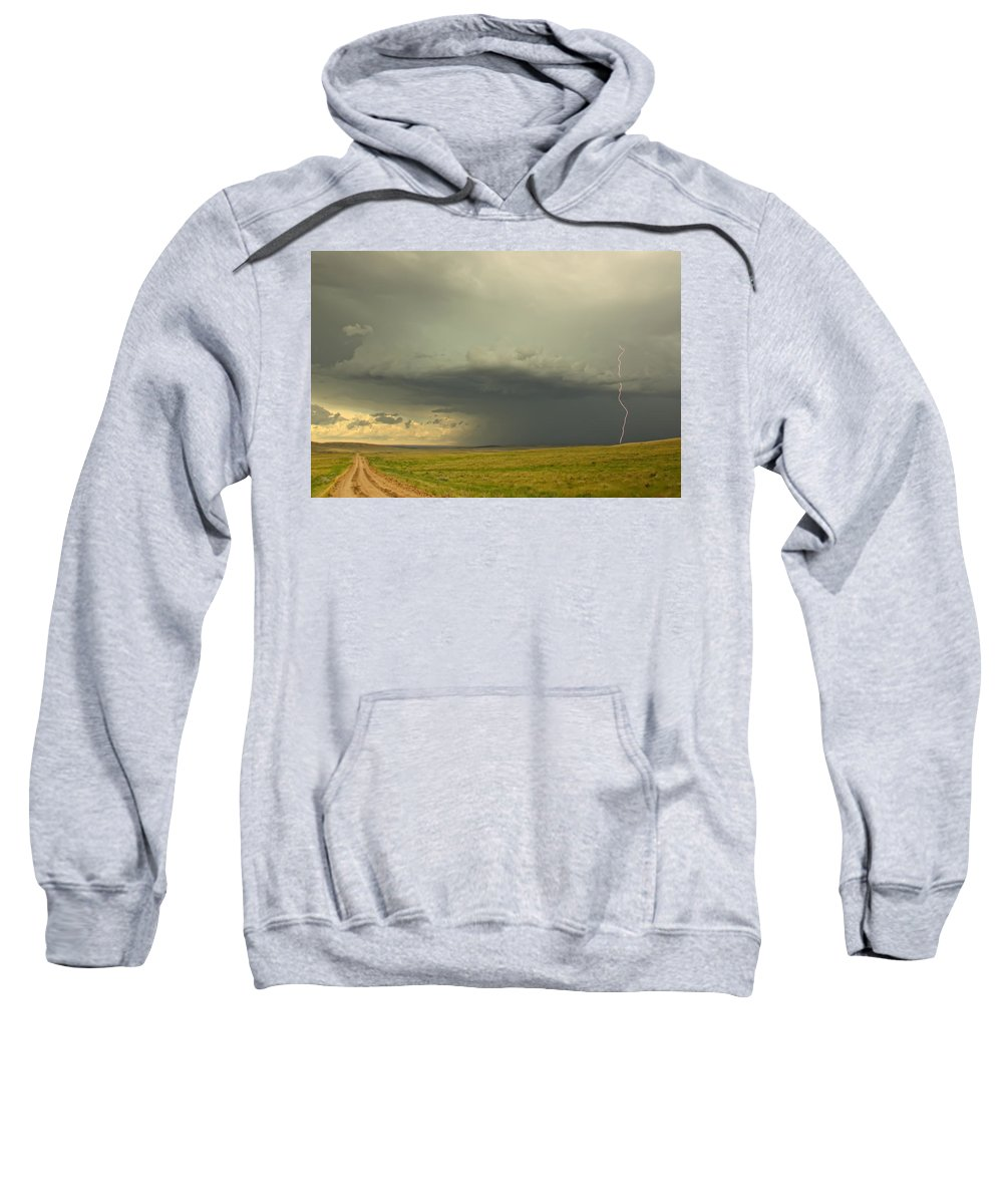 Light Sweatshirt featuring the photograph Digitally Enhanced Image With Painterly by Robert Postma