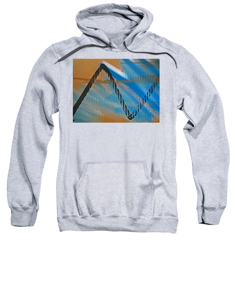 Tsunami Sweatshirt featuring the painting Tsunami by Charles Stuart