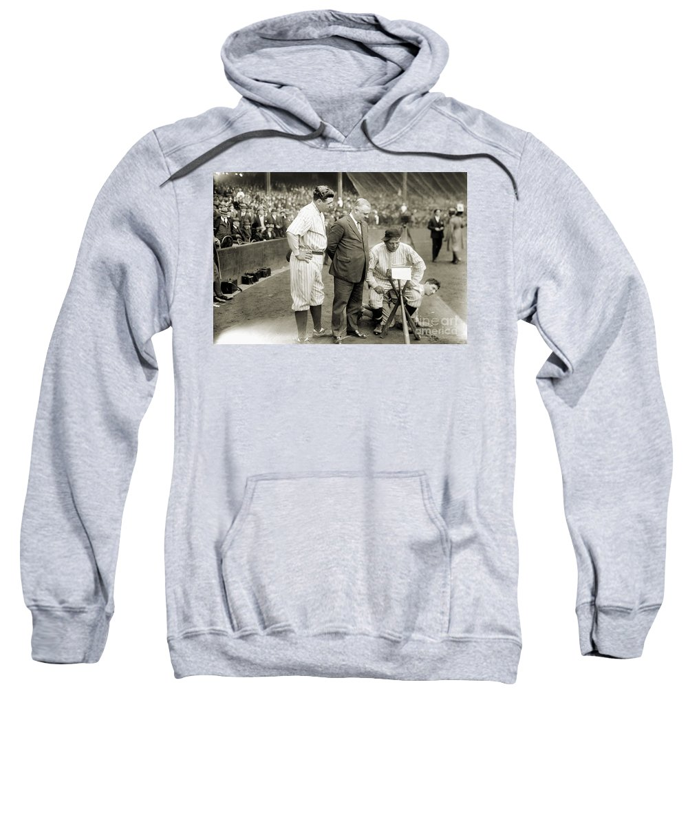 1923 Sweatshirt featuring the photograph George H. Ruth (1895-1948) by Granger