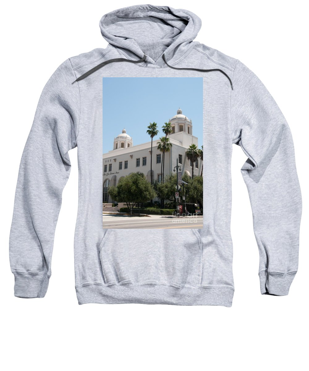 California Sweatshirt featuring the digital art El Pueblo De Los Angeles by Carol Ailles