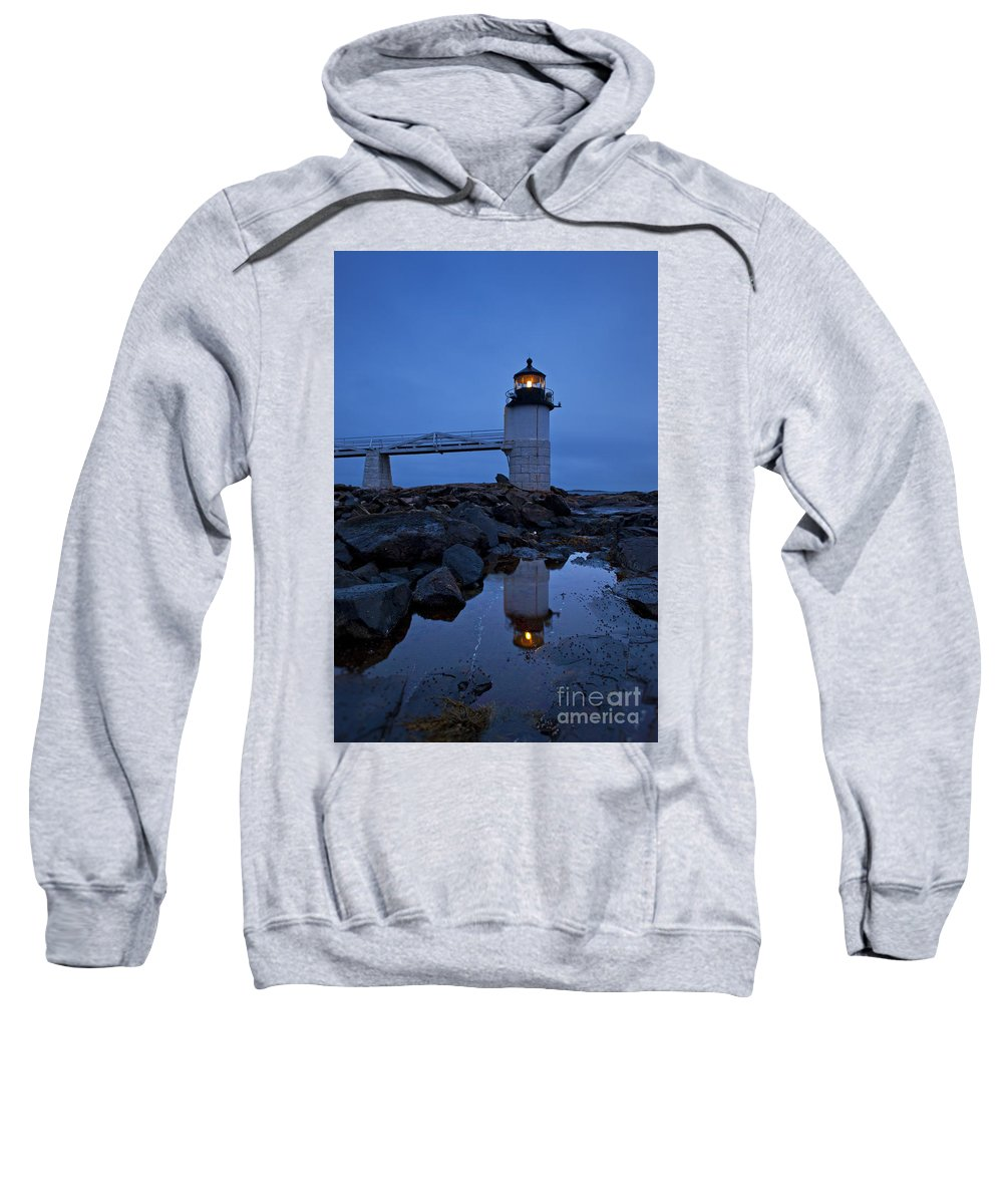 Maine Sweatshirt featuring the photograph Marshall Point Lighthouse by John Greim