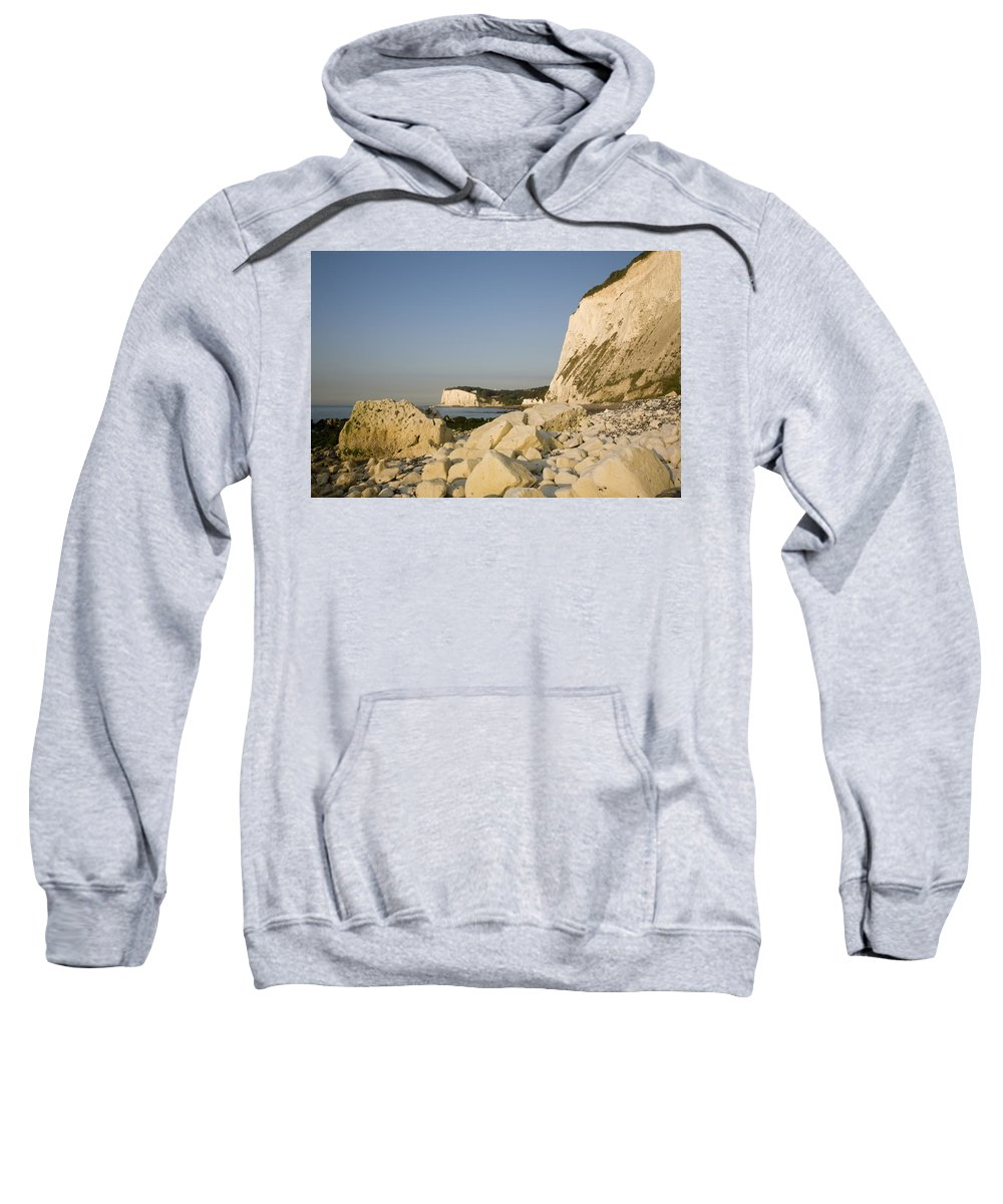 Dover Sweatshirt featuring the photograph Morning At The White Cliffs Of Dover by Ian Middleton