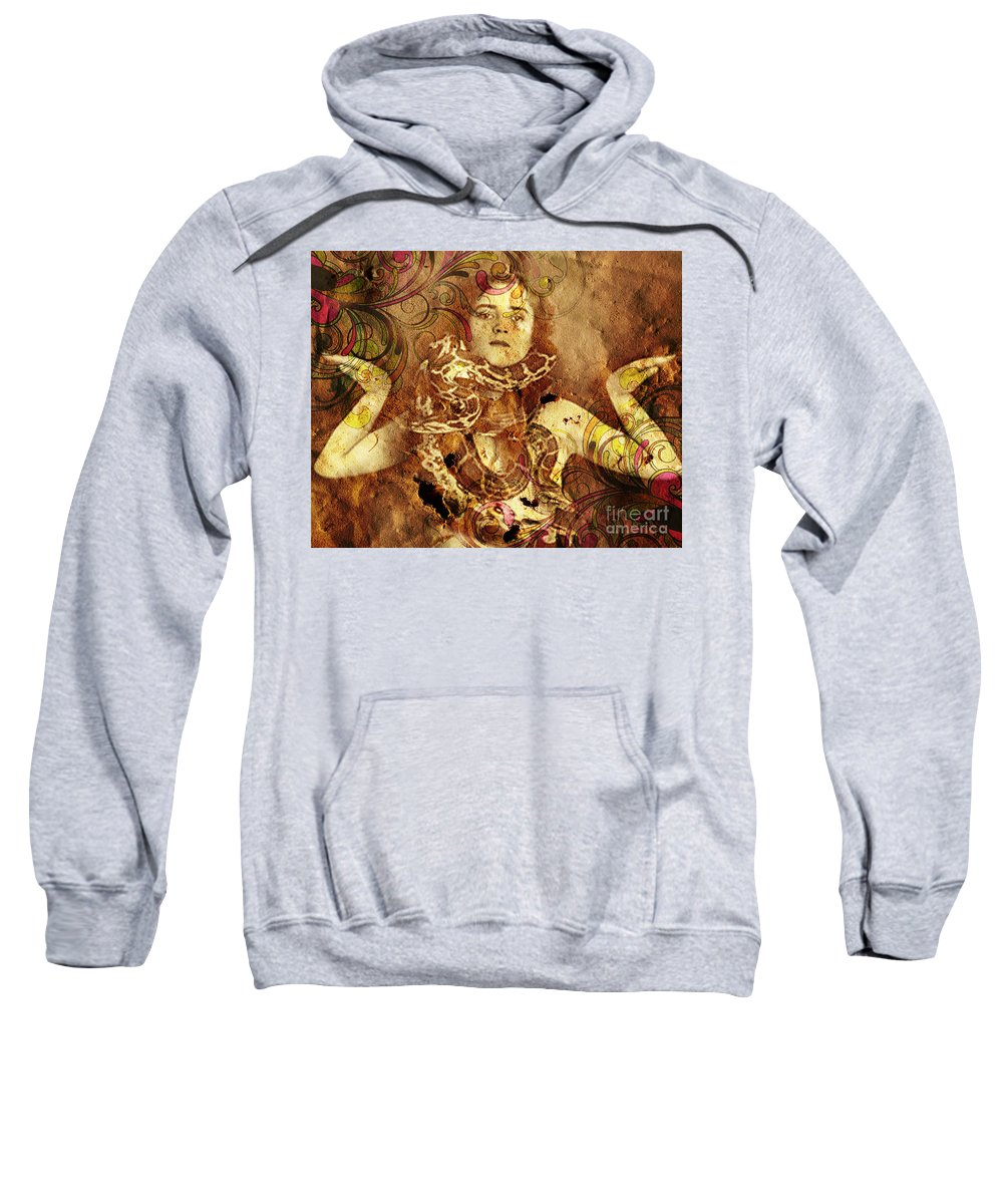Nostalgic Seduction Sweatshirt featuring the photograph Winsome Woman by Chris Andruskiewicz