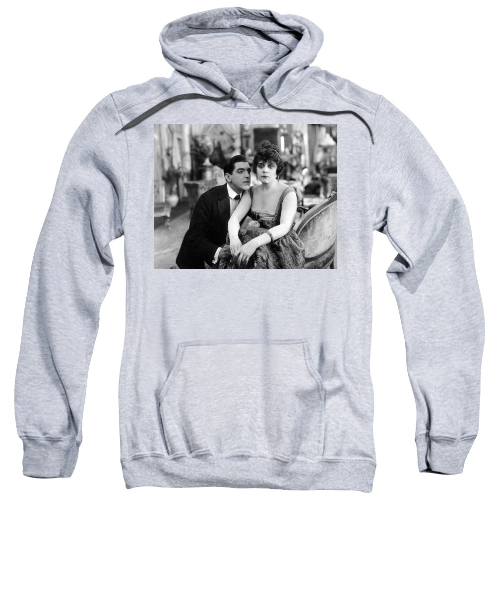 -nec02- Sweatshirt featuring the photograph Theda Bara (1885-1955) by Granger