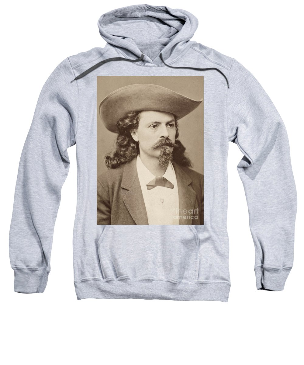 1878 Sweatshirt featuring the photograph William F. Cody (1846-1917) by Granger