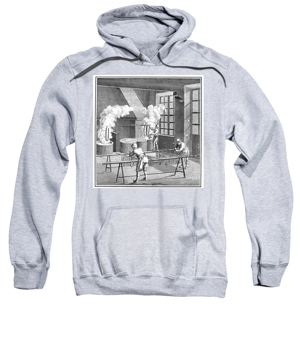 18th Century Sweatshirt featuring the photograph Textile Manufacture by Granger