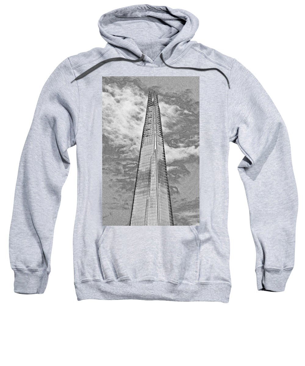 Shard Sweatshirt featuring the digital art The Shard by David Pyatt