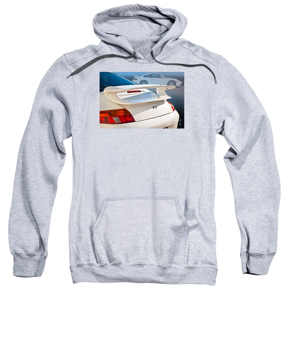 White Sweatshirt featuring the photograph 911 Porsche 996 8 by Stuart Row
