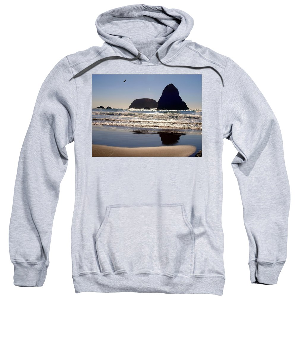 Water Sweatshirt featuring the photograph A Birds Eye View by Teri Schuster