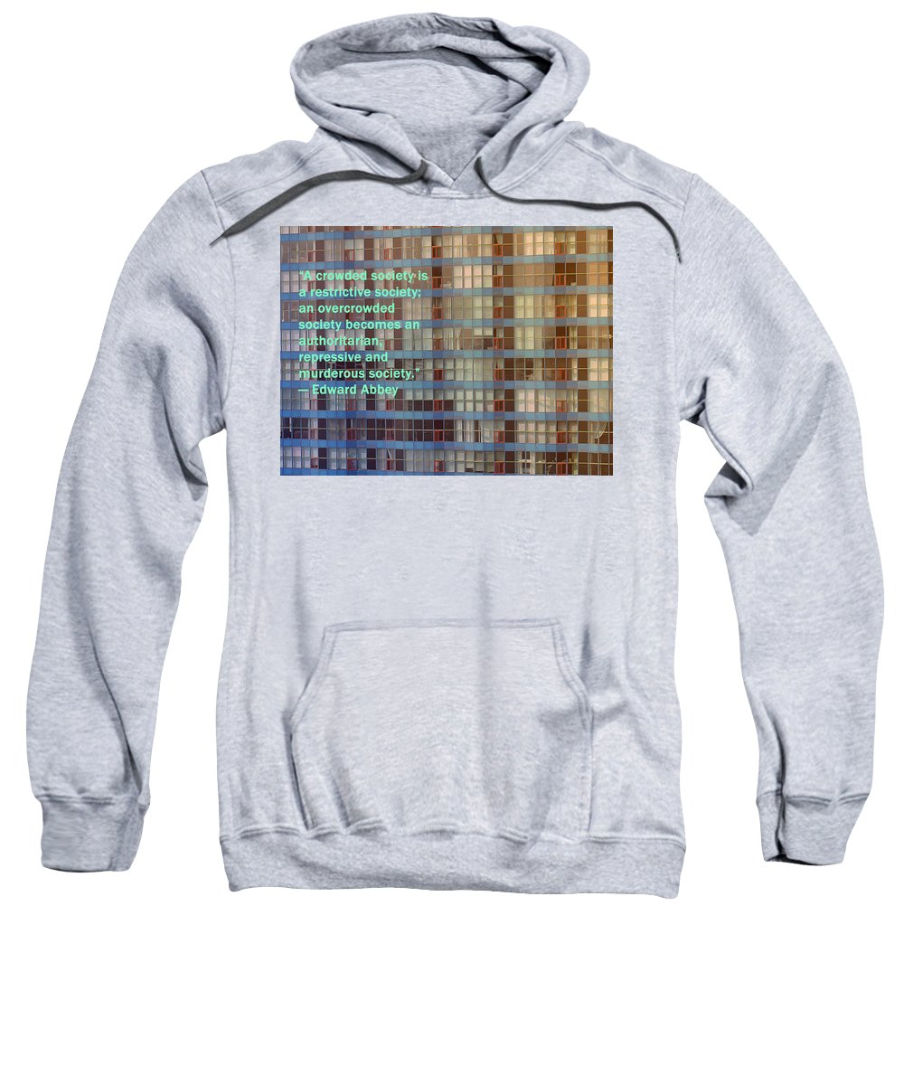 Poster Sweatshirt featuring the photograph A Crowded Society by Ian MacDonald