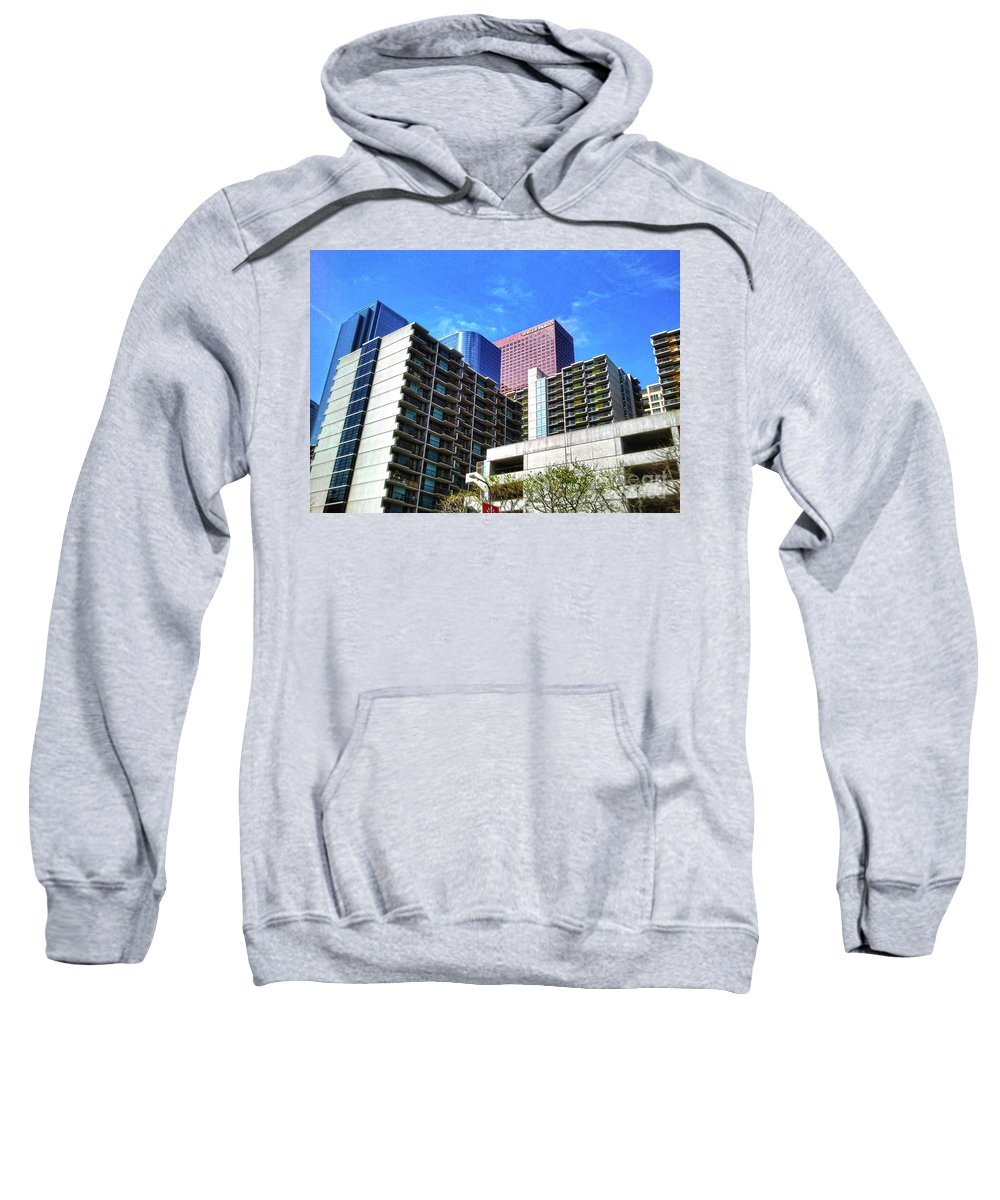 Clay Sweatshirt featuring the photograph A Different Perspective On Downtown Los Angeles II by Clayton Bruster