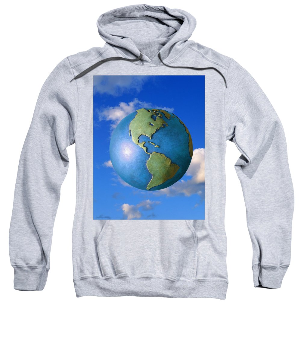 Clouds Sweatshirt featuring the photograph A Globe In The Sky by Don Hammond