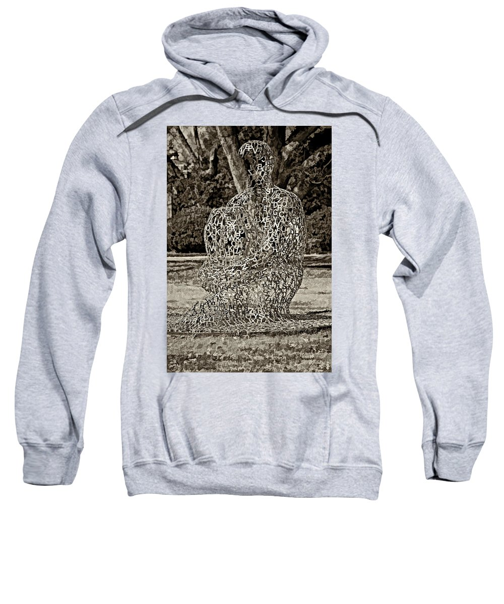 New Orleans Sweatshirt featuring the photograph A Man Of Letters Sepia by Steve Harrington