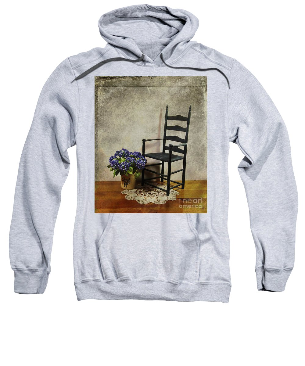 Ladderback Sweatshirt featuring the photograph A Simpler Time by Judi Bagwell