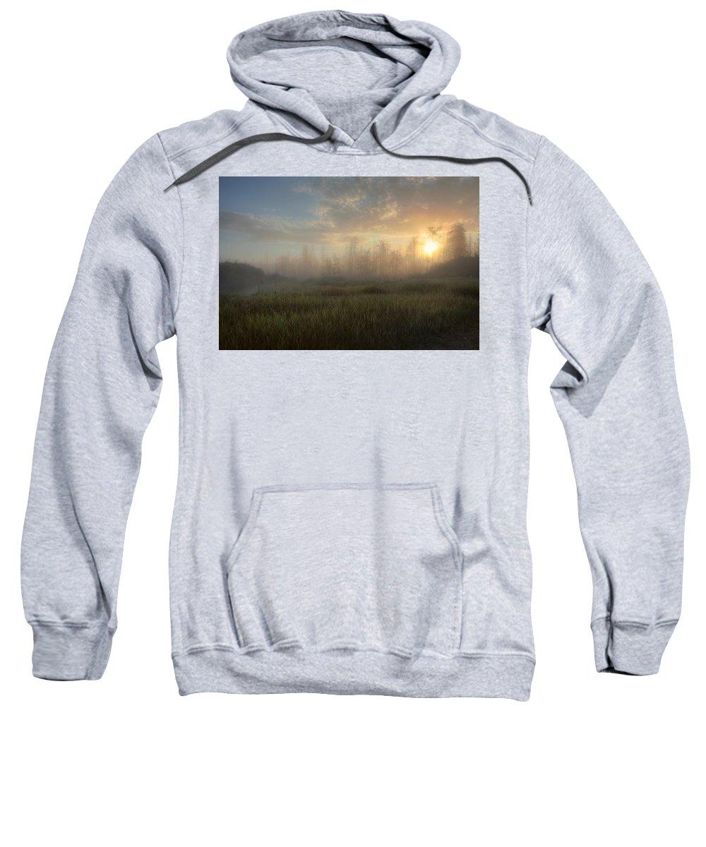 Alberta Sweatshirt featuring the photograph A Summer Sunrise On The Edge by Dan Jurak