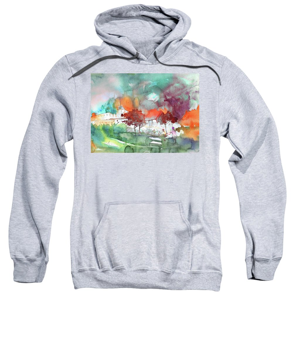 Landscapes Sweatshirt featuring the painting A Town On Planet Goodaboom by Miki De Goodaboom